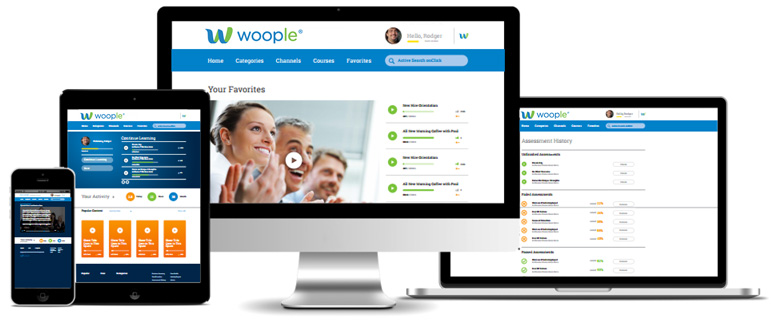 screenshots of Woople